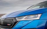 3 skoda octavia vrs tdi 2021 uk first drive review headlights