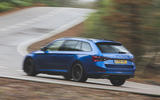 Skoda Superb Estate Sportline 2020 UK first drive review - hero rear