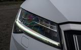 Skoda Superb IV 2020 UK first drive review - headlights
