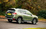 Subaru Forester eBoxer 2019 UK first drive review - hero rear