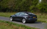 Tesla Model 3 Performance 2019 UK first drive review - hero rear