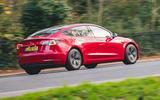 Tesla Model 3 Standard plus 2020 UK first drive review - hero rear