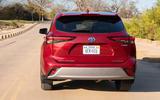 Toyota Highlander Hybrid 2020 first drive review - hero rear