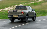 Toyota Hilux Invincible X 2020 UK first drive review - hero rear
