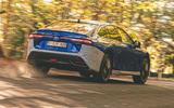 Toyota Mirai 2021 prototype drive - hero rear