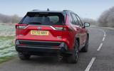 3 Toyota RAV4 PHEV 2021 UK first drive review hero rear