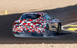 Toyota Supra 2019 prototype first drive review drift hero rear