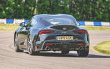 Toyota Supra 2019 UK first drive review - hero rear