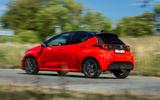 Toyota Yaris hybrid 2020 UK first drive review - hero rear