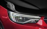 Vauxhall Grandland X Hybrid4 2020 first drive review - headlights