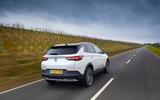 Vauxhall Grandland X Hybrid4 2020 UK first drive review - hero rear