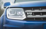 Volkswagen Amarok Aventura 2019 first drive review - headlights