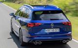 3 Volkswagen Golf R Estate 2021 first drive review hero rear