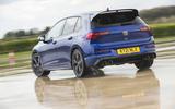 3 Volkswagen Golf R performance pack 2021 UK FD hero rear