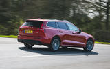 3 Volvo V60 B3 Momentum 2021 UK first drive review hero rear