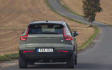 Volvo XC40 P8 Recharge 2020 UK first drive review - hero rear