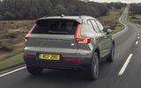 3 Volvo XC40 Recharge P8 2021 UK first drive review hero rear