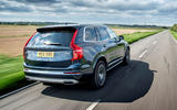 Volvo XC90 B5 petrol 2020 UK first drive review - hero rear