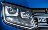 Volkswagen Amarok V6 2018 UK review headlights