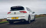 3 VW Golf GTI Clubsport 2021 UK first drive review hero rear
