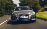Audi A4 35 TFSI 2019 UK first drive review - on the road nose
