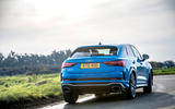 Audi RS Q3 Sportback 2019 UK first drive review - cornering rear