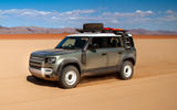 Land Rover Defender 110 S 2020 first drive review - on sand front