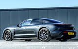 Porsche Taycan Turbo 2020 UK first drive review - static rear
