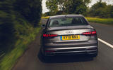 Audi A4 35 TFSI 2019 UK first drive review - on the road rear