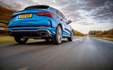 Audi RS Q3 Sportback 2019 UK first drive review - on the road low