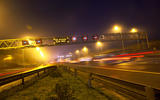 Traffic motorway at night