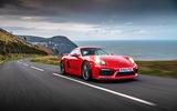Porsche Cayman GT4 - tracking front