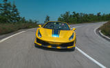 Ferrari 488 Pista Spider 2019 first drive review - nose