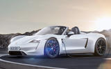 Porsche Boxster EV render 2019 - stationary side