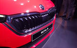 Skoda Scala official reveal stage front bumper