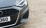 Audi A3 Sportback 2020 UK first drive review - front bumper