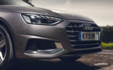 Audi A4 35 TFSI 2019 UK first drive review - front grille
