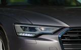 4 Audi A6 TFSIe 2021 UK first drive review headlights