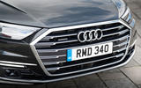 Audi A8 60 TFSIe 2020 UK first drive review - front grille