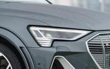 4 Audi E tron S Sportback 2021 UK first drive review headlights