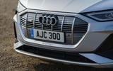 Audi E-tron Sportback 55 2020 UK first drive review - nose