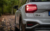 Audi Q2 2020 first drive review - rear lights