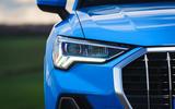 Audi Q3 45 TFSI 2019 first drive review - headlights