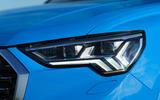 Audi Q3 Sportback 2019 UK first drive review - headlights