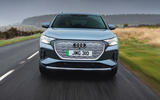 4 Audi Q4 etron 2021 UK FD hero nose