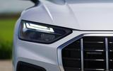 Audi Q5 40 TDI Sport 2020 UK first drive review - headlights