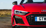 Audi R8 Spyder 2019 UK first drive review - front end