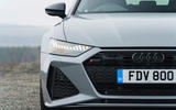 Audi RS6 2020 UK first drive review - front lights