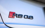 Audi RS Q8 2020 UK first drive review - rear badge