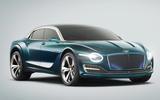 Bentley EV saloon render 2025 - static front
